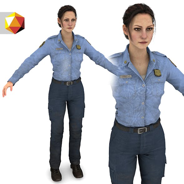 "Female cop "" police Woman "" - 3DOcean Item for Sale"
