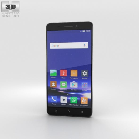 Gionee Marathon M5 Black - 3DOcean Item for Sale