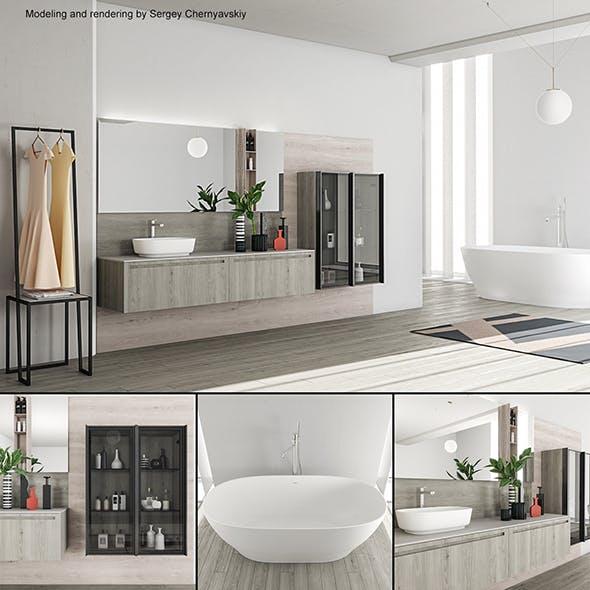 Bathroom furniture set Rush - 3DOcean Item for Sale