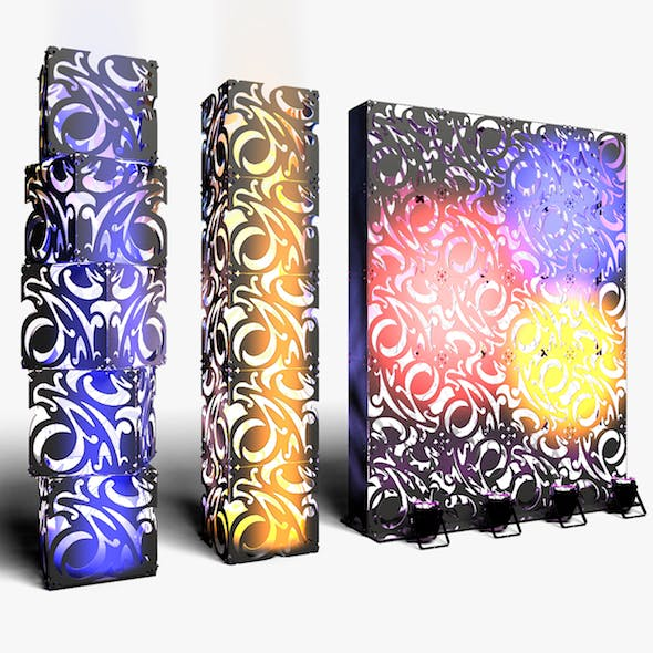 Stage Decor 07 Modular Wall Column - 3DOcean Item for Sale