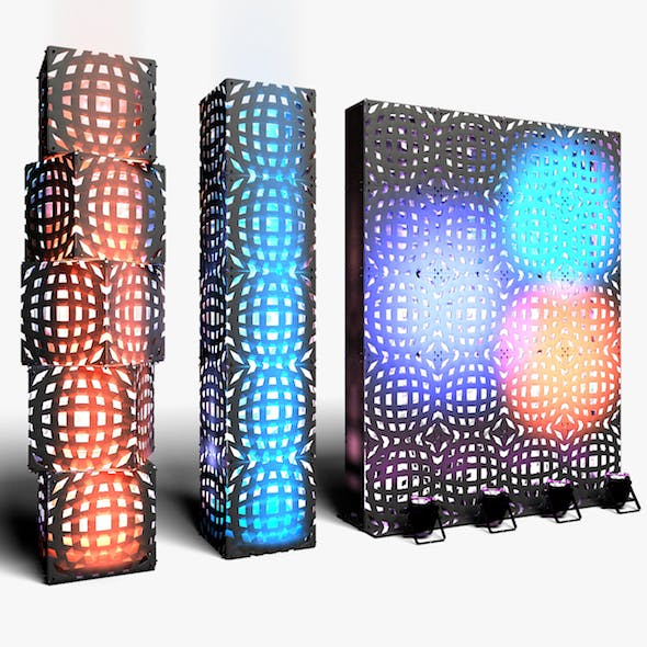 Stage Decor 12 Modular Wall Column - 3DOcean Item for Sale