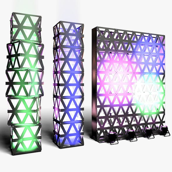 Stage Decor 14 Modular Wall Column - 3DOcean Item for Sale