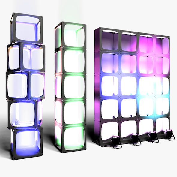 Stage Decor 15 Modular Wall Column - 3DOcean Item for Sale