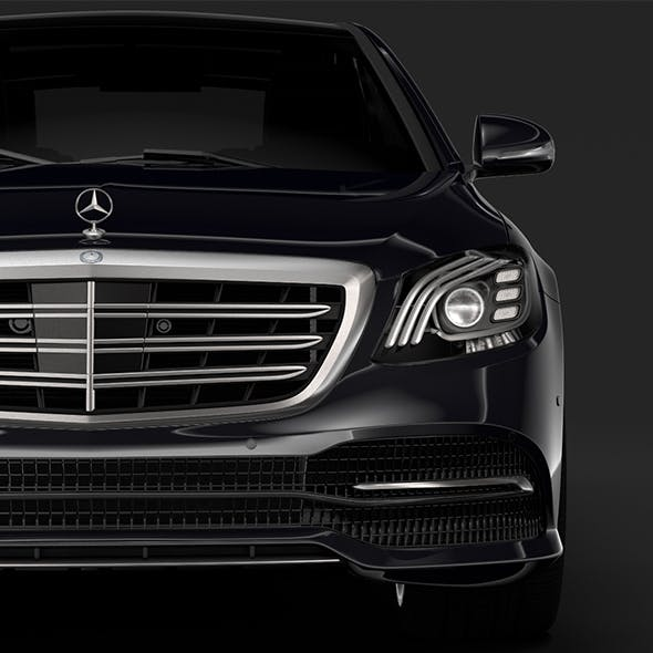 Mercedes Benz S 400 d Lang 4MATIC V222 2018 - 3DOcean Item for Sale