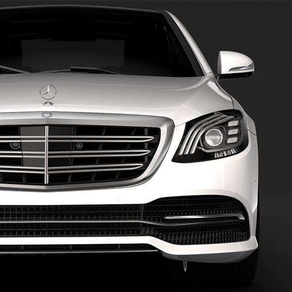 Mercedes Benz S 450 Lang 4MATIC V222 2018 - 3DOcean Item for Sale