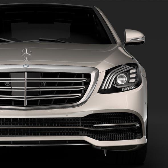 Mercedes Benz S 450 Lang V222 2018 - 3DOcean Item for Sale