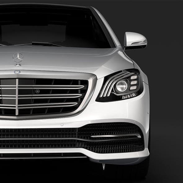 Mercedes Benz S 560 Lang 4MATIC V222 2018 - 3DOcean Item for Sale