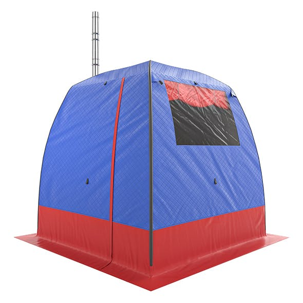 Camping Tent bathhouse Walrus - 3DOcean Item for Sale