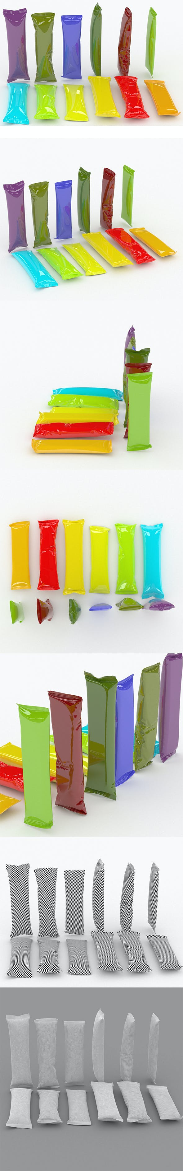 Collection Food packaging v9 - 3DOcean Item for Sale