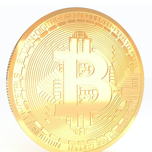 Bitcoin Realistic Detailed model