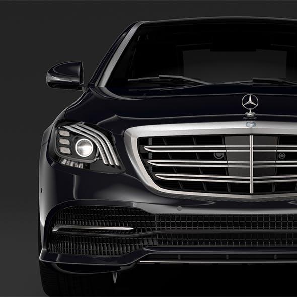 Mercedes Benz S 300 Bluetec Hybrid W222 2018 - 3DOcean Item for Sale