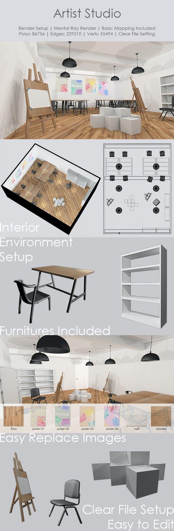 Artist Studio - 3DOcean Item for Sale
