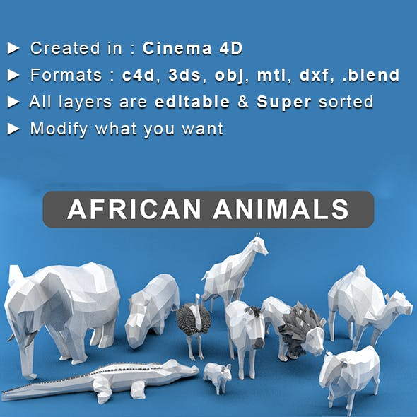 Low Poly Animals (Africa Edition)