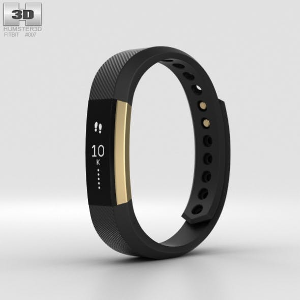 Fitbit Alta Black/Gold - 3DOcean Item for Sale