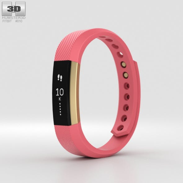 Fitbit Alta Pink/Gold - 3DOcean Item for Sale