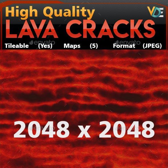 VDE Lava Crack 1 Tileable Texture
