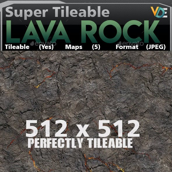 VDE Lava Rock Tileable Texture