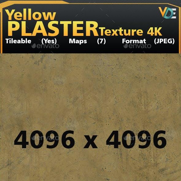 VDE Yellow Plaster Tileable Texture_4k