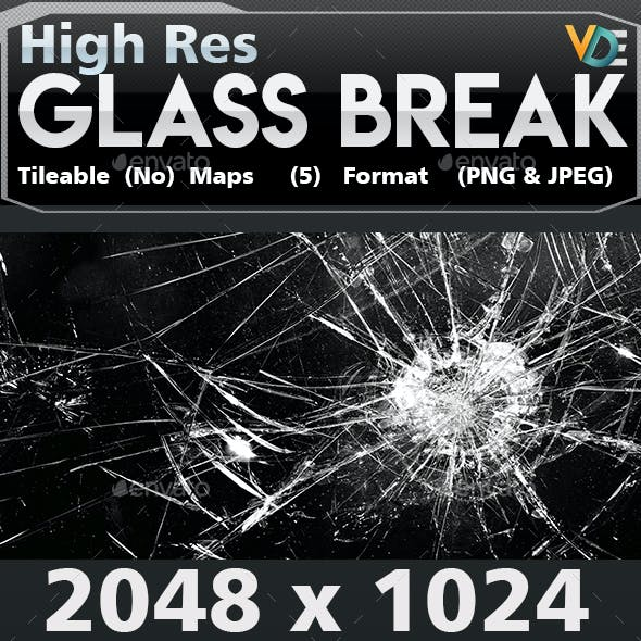 VDE Glass Break Texture 2K