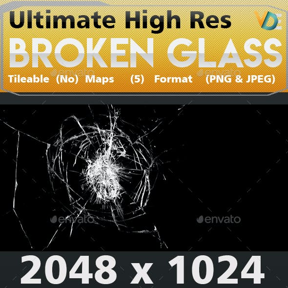 VDE Broken Glass Texture 2K