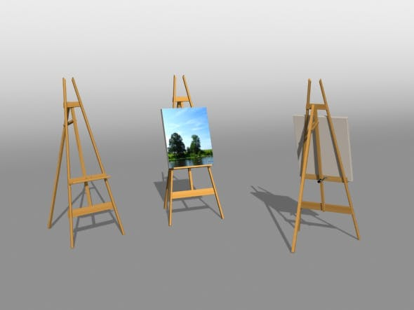 Artist Easel - 3DOcean Item for Sale