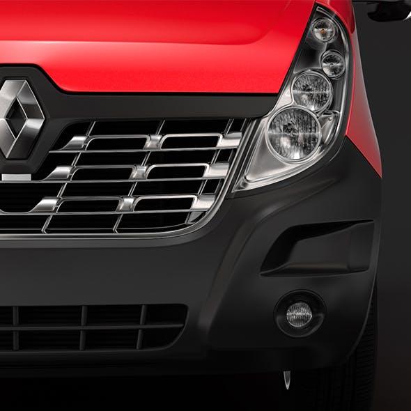 Renault Master L4H3 MiniBus 2018 - 3DOcean Item for Sale