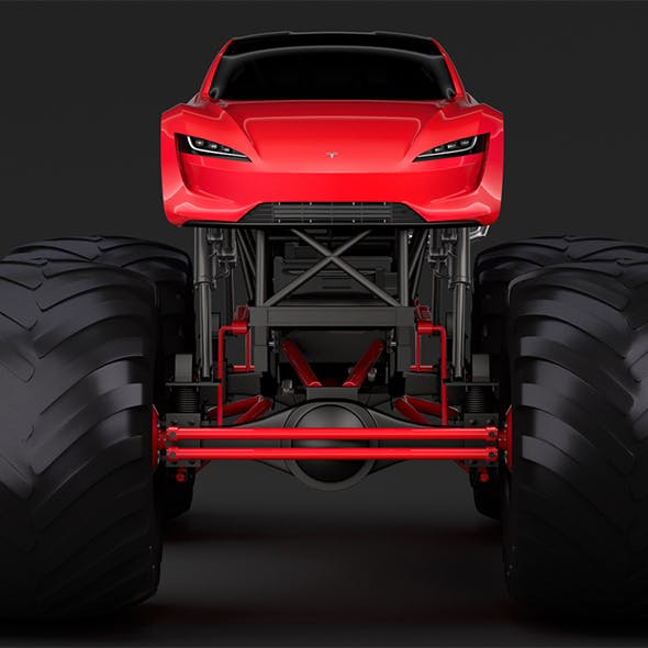 Monster Truck Tesla Roadster