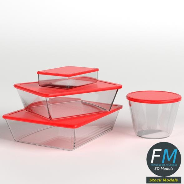 Food containers set - 3DOcean Item for Sale