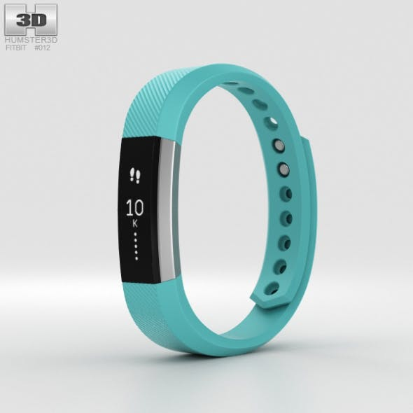 Fitbit Alta Teal/Silver - 3DOcean Item for Sale