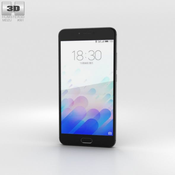Meizu M3x Black - 3DOcean Item for Sale