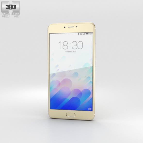 Meizu M3x Gold - 3DOcean Item for Sale
