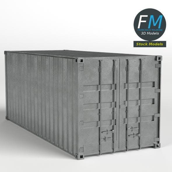 Closed shipping container - 3DOcean Item for Sale