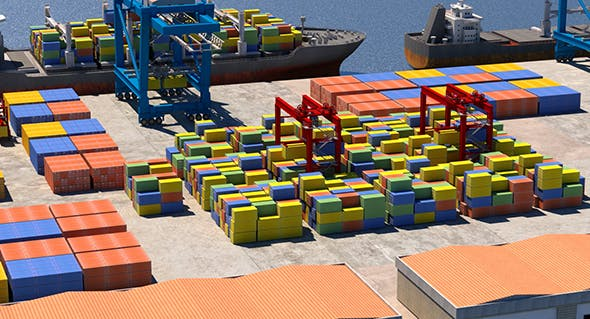 Cargo Dockyard - 3DOcean Item for Sale