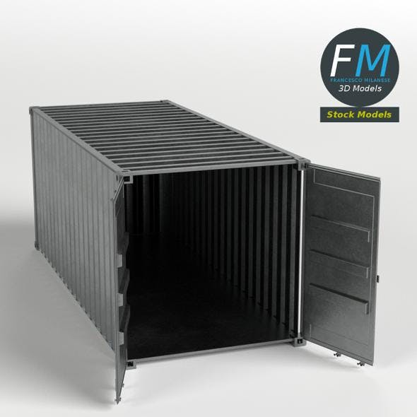 Open shipping container - 3DOcean Item for Sale