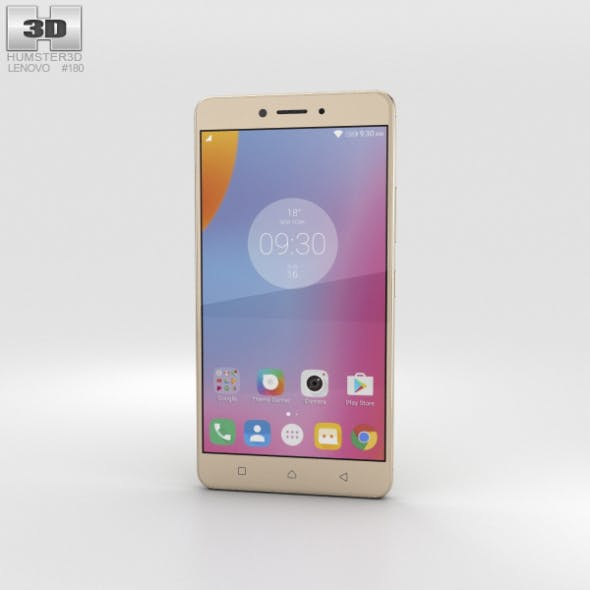 Lenovo K6 Note Gold - 3DOcean Item for Sale