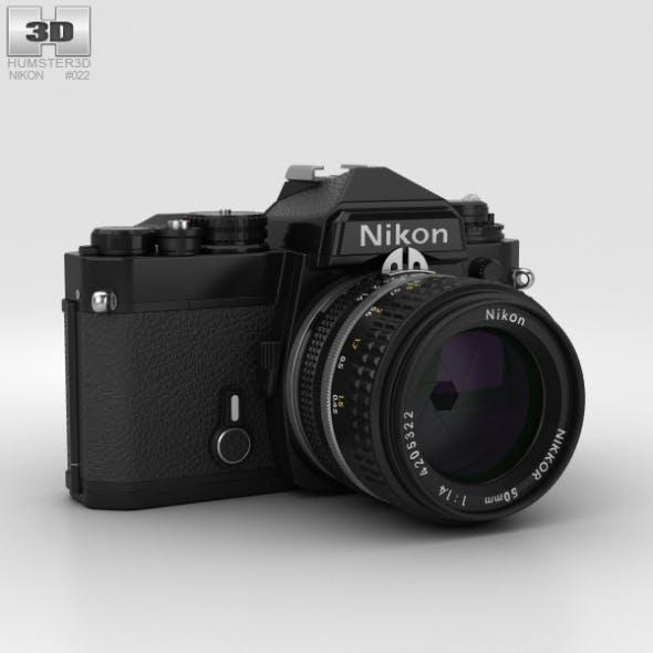 Nikon FE Black - 3DOcean Item for Sale
