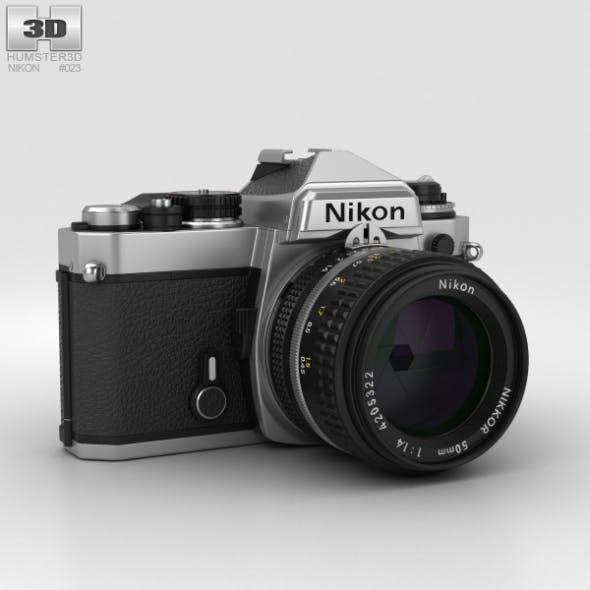 Nikon FE Silver - 3DOcean Item for Sale