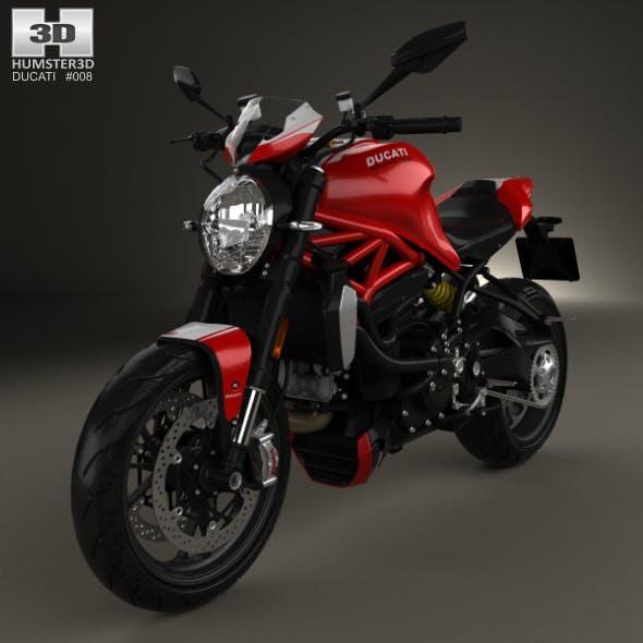 Ducati Monster 1200 R 2016 - 3DOcean Item for Sale