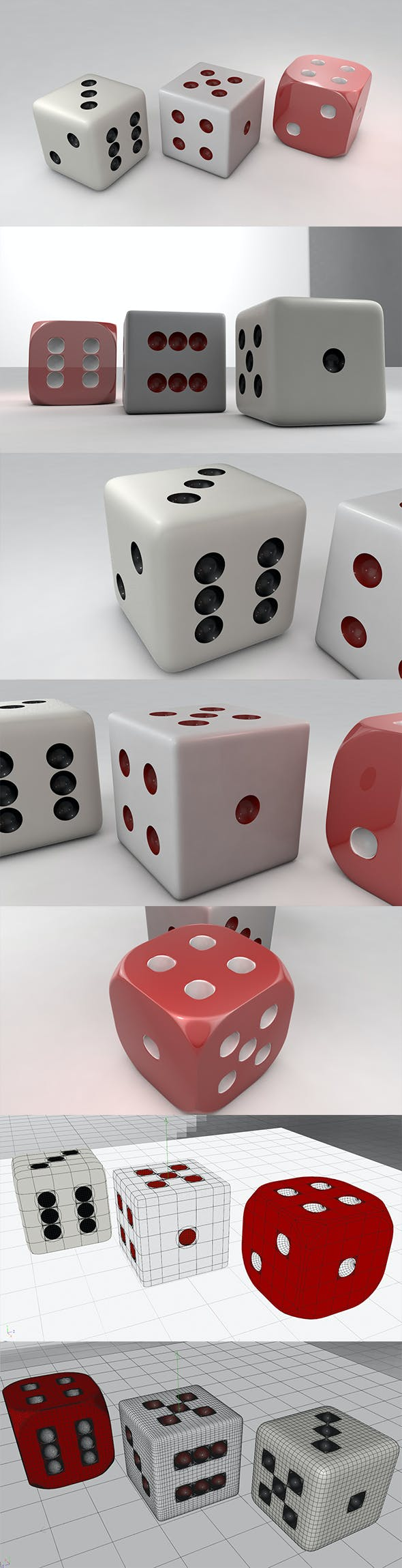 3D Dice - 3DOcean Item for Sale