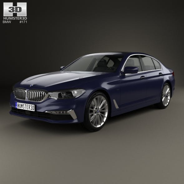 BMW 5 Series (G30) Luxury Line 2017 - 3DOcean Item for Sale