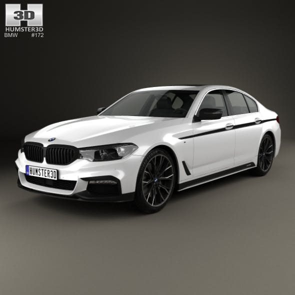 BMW 5 Series (G30) M Performance Parts 2017 - 3DOcean Item for Sale