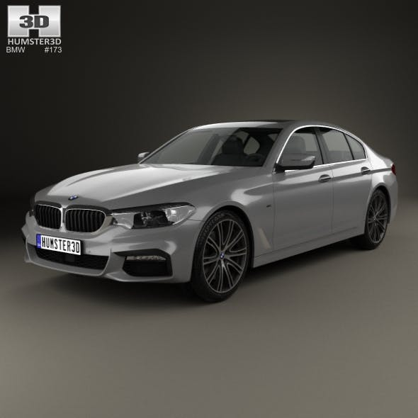 BMW 5 Series (G30) M Sport 2017 - 3DOcean Item for Sale