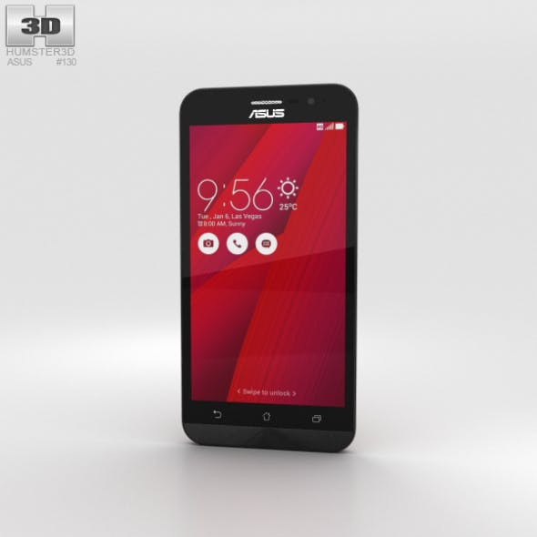 Asus Zenfone Go (ZB500KL) Glamour Red - 3DOcean Item for Sale
