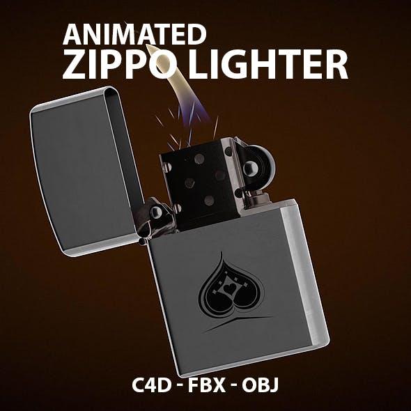 Animated 3D Lighter Model