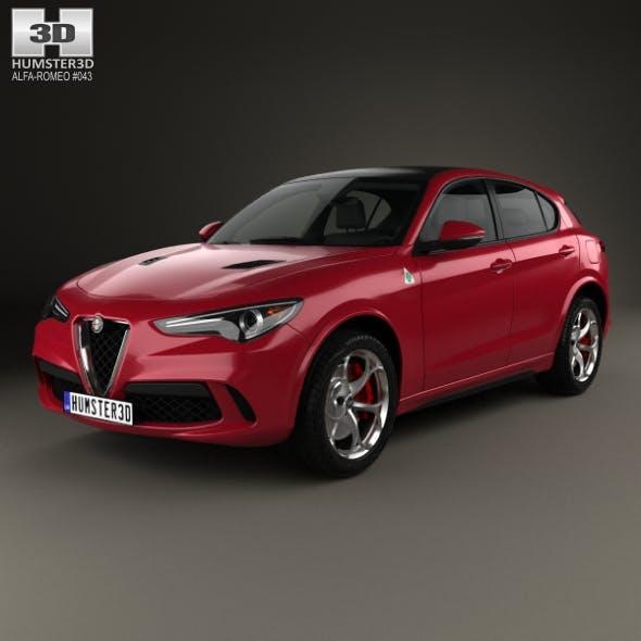 Alfa Romeo Stelvio Quadrifoglio 2018 - 3DOcean Item for Sale