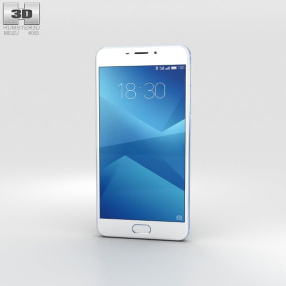 Meizu M5 Note Blue - 3DOcean Item for Sale
