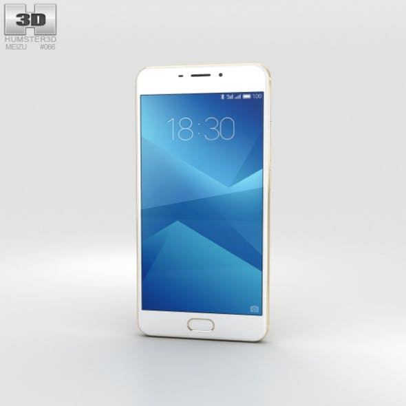 Meizu M5 Note Gold - 3DOcean Item for Sale