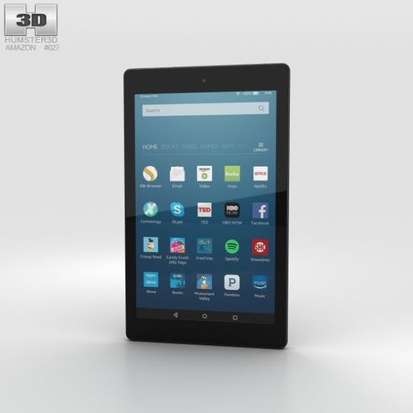 Amazon Fire HD 8 Black - 3DOcean Item for Sale