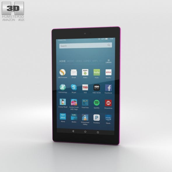 Amazon Fire HD 8 Magenta - 3DOcean Item for Sale