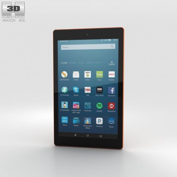 Amazon Fire HD 8 Tangerine - 3DOcean Item for Sale